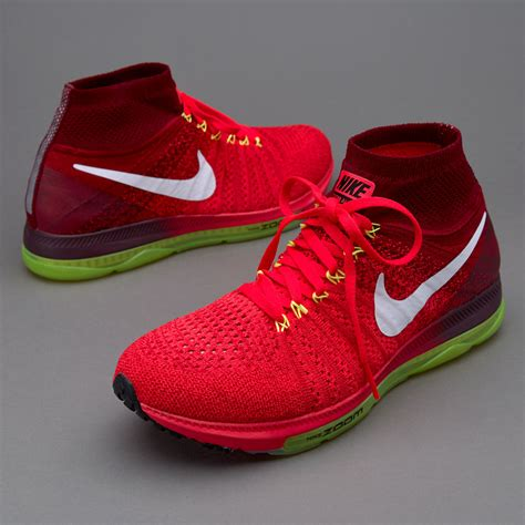 sepatu sneakers nike zoom all out flyknit bright crimson