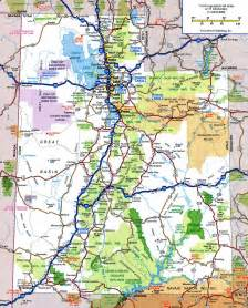 road map of state utah state road map