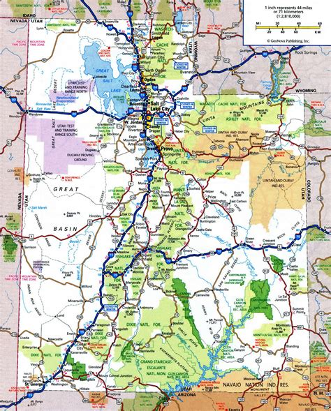 Utah State Records Utah Road Map My