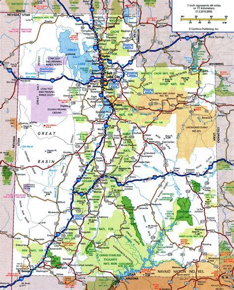 printable road map of idaho utah state road map