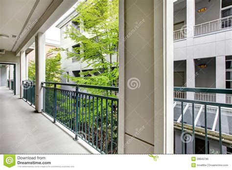 Apartment With Yard Apartment Balcony With Modern Building Court Yard Royalty