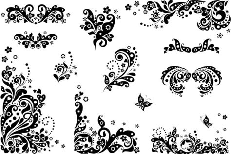 pattern vector cdr free download vector black floral cdr free vector download 14 760 free