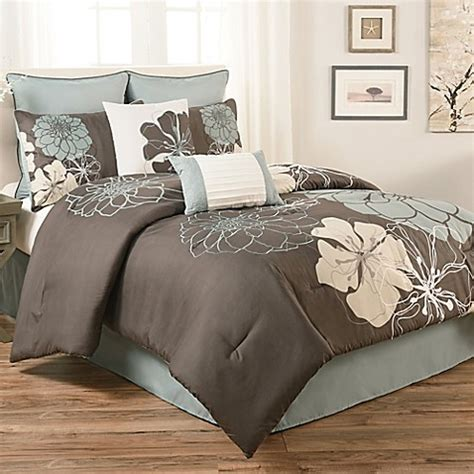 floral king comforter sets buy terra floral king 8 piece comforter set in blue grey