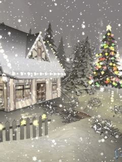 winter landscapes  scenic wintery moving snow animations