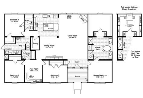 flooring guest house floor plans the casa grande guest the casa grande scwd64m1 home floor plan manufactured