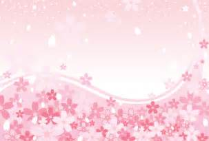 spring pink cherry blossoms background vector graphic