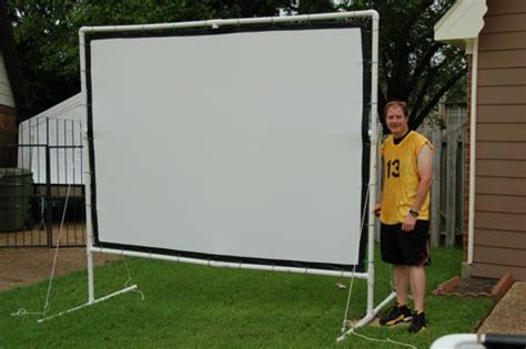 backyard projector screen diy outdoor movie screen crafts pinterest