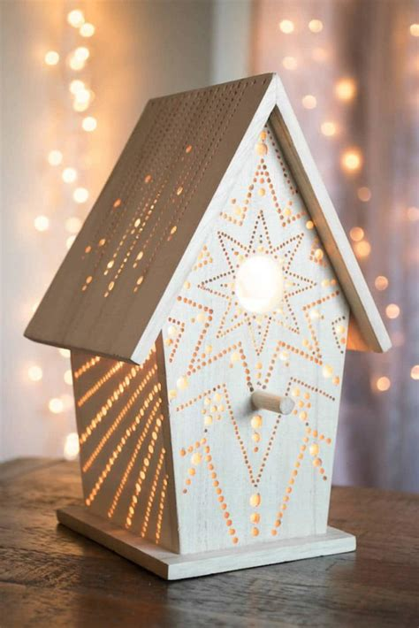hand drilled wooden night lights id lights