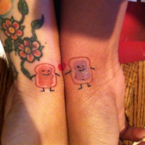 butter tattoo bff cause we go together like peanut butter and