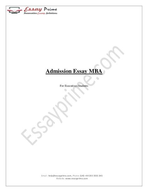 Ntu Mba Acceptance Rate by Admission Essay Sle