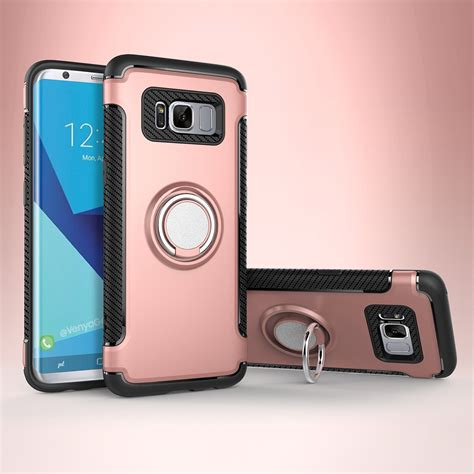Samsung S8 Armor Casing Softcase Slide Finger Holder armor shockproof hybrid ring buckle cover fr samsung galaxy s7 s8 plus