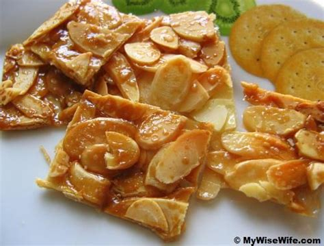 new year almond flakes cookies delicious caramel almond flakes or cookies food