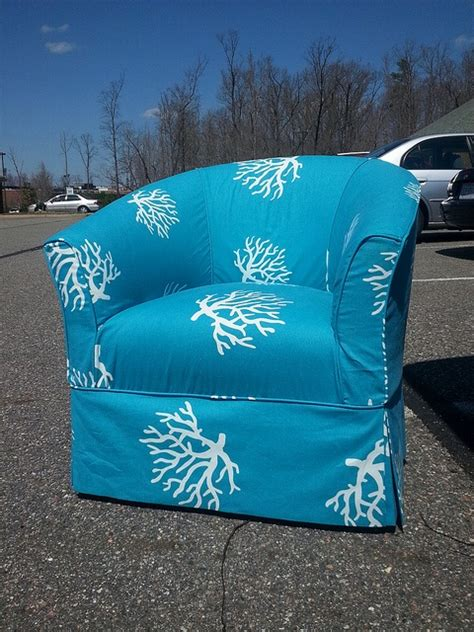 turquoise chair slipcover beach house chair turquoise coral slipcover http