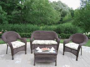 Brown Wicker Loveseat Patio Furniture Wicker Patio Furniture Sets Clearance