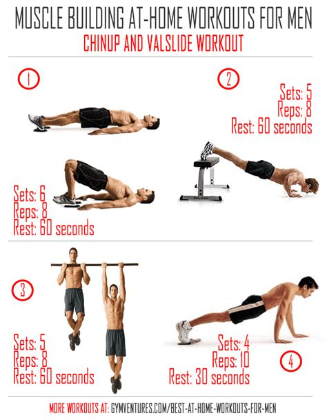 building workout routines at home workout schedule