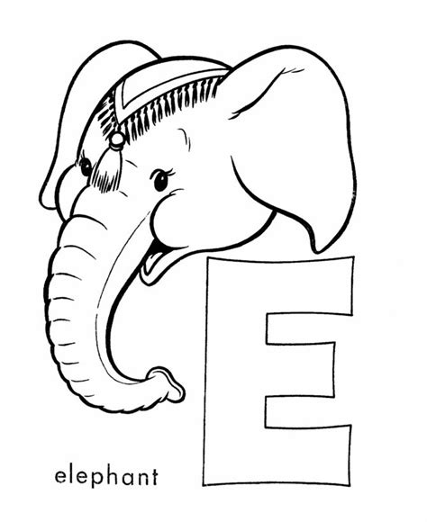 letter e coloring pages momjunction abc coloring sheet letter e is for elephant coloring