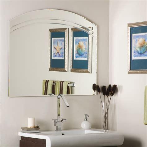 large frameless mirrors for bathrooms decor wonderland angel large frameless wall mirror