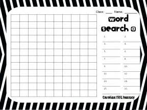 Word Search Template by Caroline Tefl Journey Word Search Template