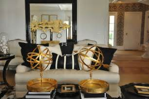 Black And Ivory Living Room Gold And Black Living Room Eclectic Living Room