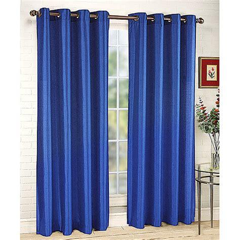 cobalt blue drapes belle maison tribecca faux silk grommet window panel