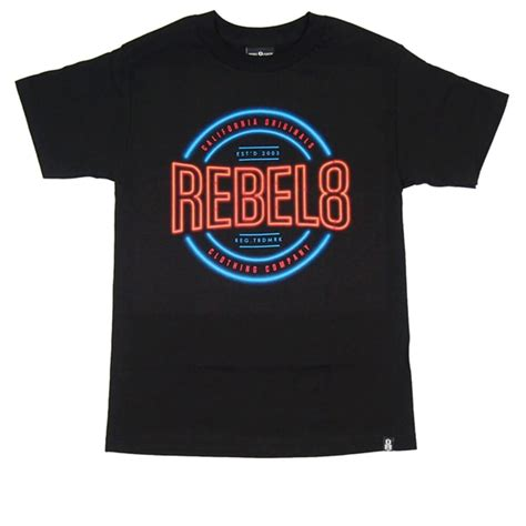Rebel Eight Tosca Logo Jacket Jaket Hoodie Sweater Pria Wanita rebel8 r8 neon t shirt in black natterjacks