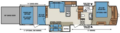 fifth wheel toy hauler floor plans 2016 venom v3911tk luxury fifth wheel toy hauler k z rv
