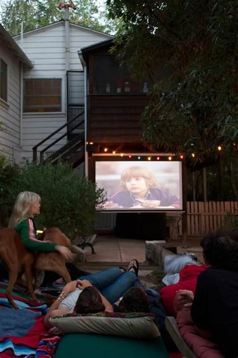 backyard movie projectors build a backyard movie theater the garden glove