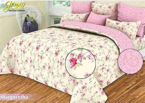 Sprei Katun Grow Uk 160x200x25 12 detail product sprei dan bedcover margaretha pink toko