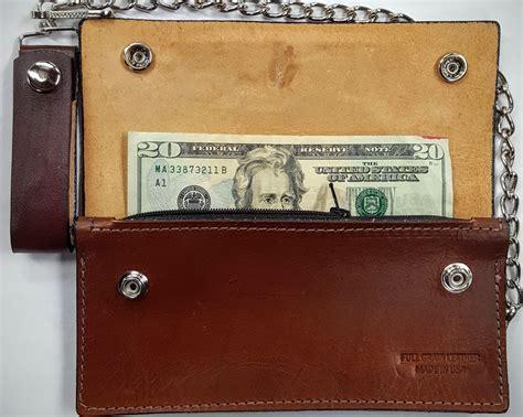 Handmade Leather Wallets Usa - eagle leather wallet with chain handmade leather wallets