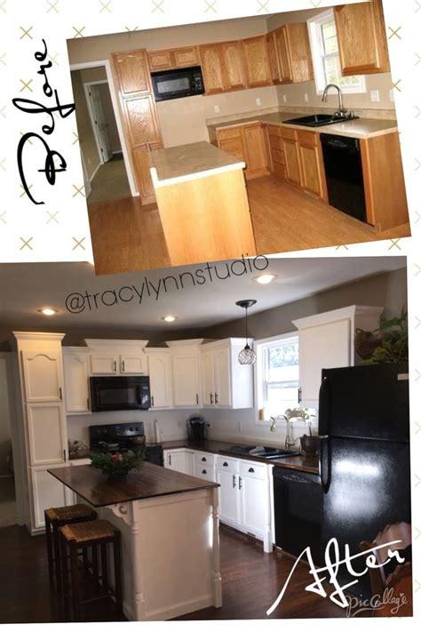 my diy budget kitchen makeover white cabinets valspar swiss coffee walls valspar aspen
