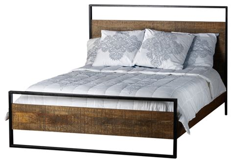 Mango Wood Bed Frame Uk Delia Bed Made Of Mango Wood Industrial Beds By Artemano