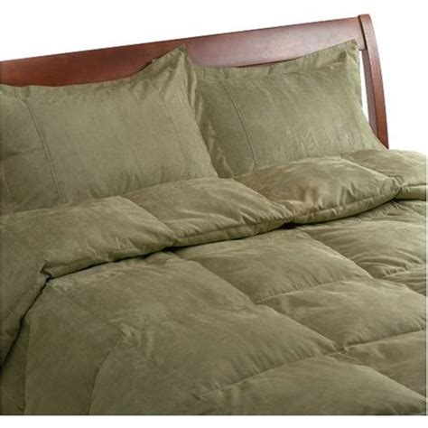 new microsuede full queen feather down comforter green ebay