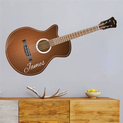 wall decor guitar acoustic guitar wall decal stringed instrument wall