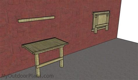 wall bench plans wall mounted folding workbench plans myoutdoorplans