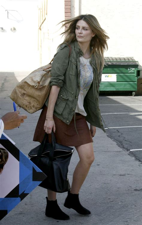 The Mccall Skirt That Mischa Barton Wore Is Now At Outfitters by Mischa Barton In Mini Skirt At Dwts Studio In