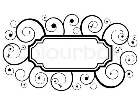 swirl pattern frame black floral swirl frame pattern stock vector colourbox