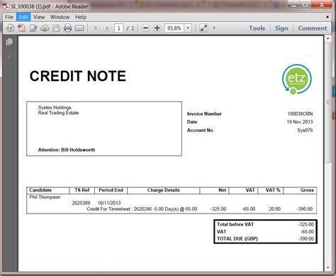 Credit Note Format For Export How To Create A Credit Note Etz Technologies Ltd