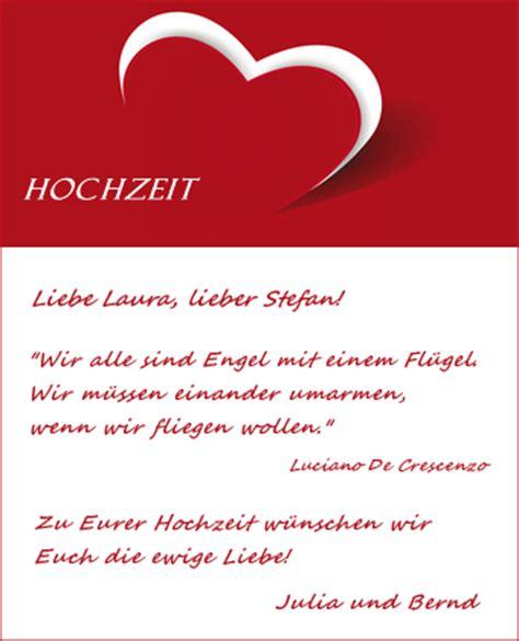 Hochzeit Karte Spruch by Hochzeitskarten Mit Einem Hochzeitsspruch