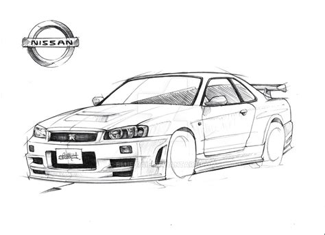 nissan gtr skyline drawing nissan r 34 gt r nismo z tune skyline by blue raie
