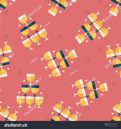 pattern background flat wedding chagne flat iconeps10 seamless pattern stock