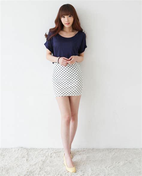 Dotted Mini Skirt 2fb dotted mini skirt kstylick korean fashion