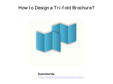 How To Tri Fold Paper - how to design a tri fold brochure