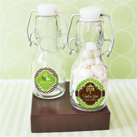personalized fall mini glass bottles