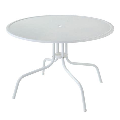 Metal Patio Dining Table Crosley Griffith White Metal Patio Dining Table Co1012a Wh The Home Depot