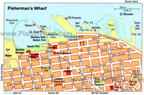 san francisco map of fishermans wharf sf wharf