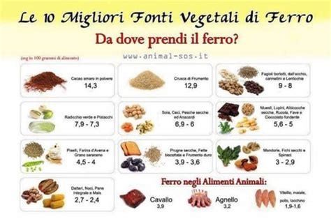 lista alimenti contenenti iodio carenza di ferro cosa mangiare e rimedi per ferro basso