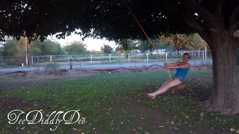 how to make a single rope tree swing how to build a one rope tree swing teediddlydee