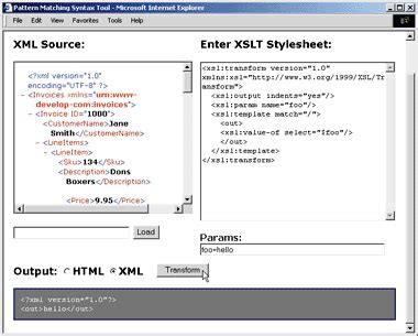 xml pattern matching online the xml files msxml 3 0 supports xpath 1 0 xslt 1 0 xdr