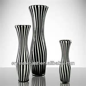 black and white glass vases wholesale for restaurant