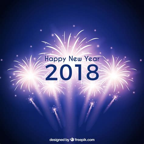 new year background free vector blue new year background with fireworks vector free